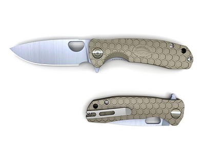HONEY-BADGER-FLIPPER-FOLDING-KNIFE-MEDIUM-TAN