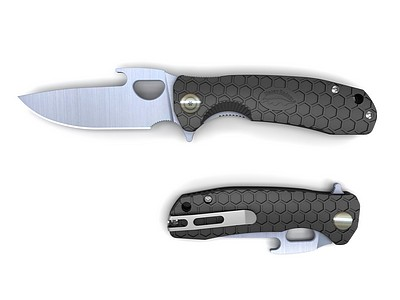 HONEY-BADGER-FOLDING-KNIFE-OPENER-BLADE-BLACK