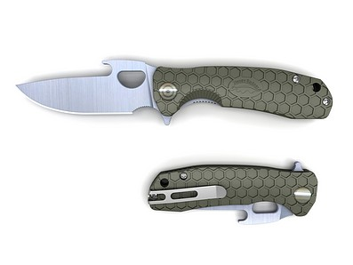 HONEY-BADGER-FOLDING-KNIFE-OPENER-BLADE-GREEN