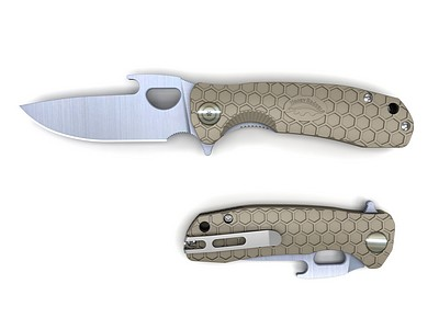 HONEY-BADGER-FOLDING-KNIFE-OPENER-BLADE-TAN