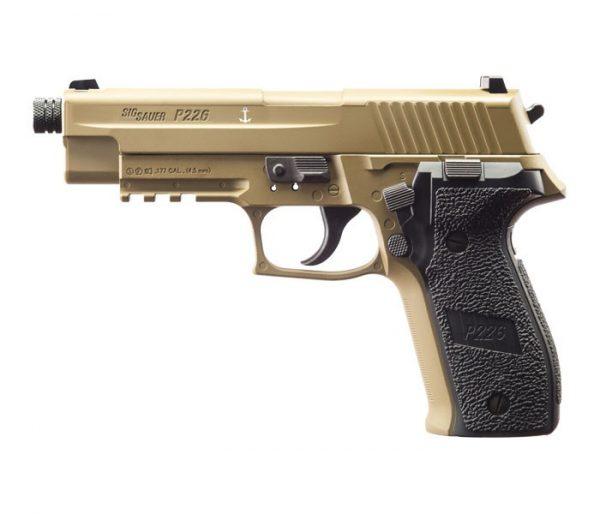 SIG-SAUER-P226-4.5mm-SKIRT-PELLET-CO2-GAS-GUN-BLOWBACK-TAN