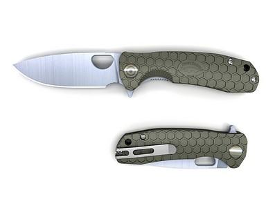 HONEY-BADGER-FLIPPER-FOLDING-KNIFE-MEDIUM-GREEN