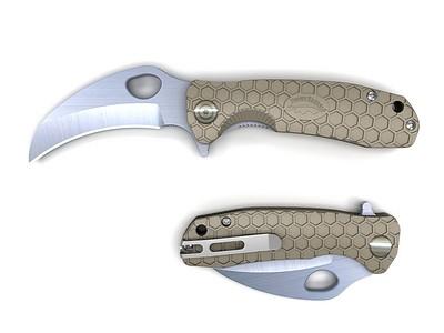 HONEY-BADGER-FOLDING-KNIFE-CLAW-BLADE-TAN