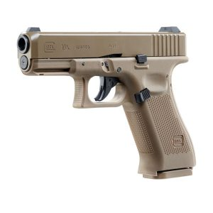 UMAREX-GLOCK-19-X-TAN-4.5mm-STEEL-BALL-CO2-GAS-GUN-BLOWBACK